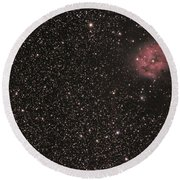 The Cocoon Nebula Round Beach Towel