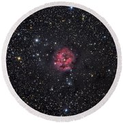 The Cocoon Nebula Round Beach Towel by Roth Ritter