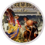 The Colored Angel Round Beach Towel