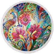 The Colors Of Day Round Beach Towel