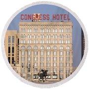 The Congress Hotel - 1 Round Beach Towel