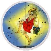 The Constellation Perseus Round Beach Towel