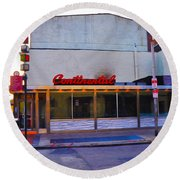 The Continental Diner Round Beach Towel by Bill Cannon