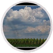 The Corn Is Thirsty Round Beach Towel