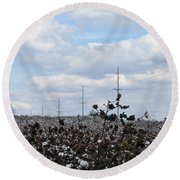 The Cotton Crops Of Limestone County Alabama Round Beach Towel