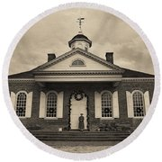 The Courthouse Round Beach Towel