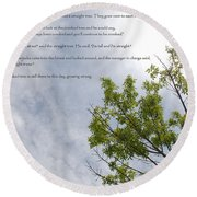 The Crooked Tree Round Beach Towel