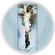 The Cross Round Beach Towel by Mindy Newman