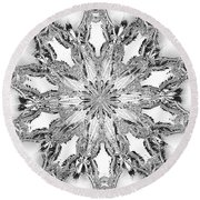 The Crystal Snow Flake Round Beach Towel