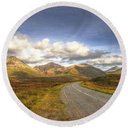 The Cuillin Mountains Of Skye Round Beach Towel