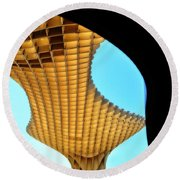 The Curves Of The Metropol Parasol Round Beach Towel