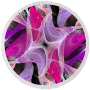 The Dancing Princesses Abstract Round Beach Towel