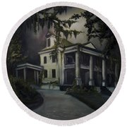 The Dark Plantation Round Beach Towel by James Christopher Hill