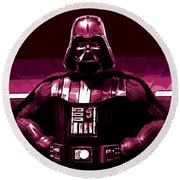 the Dark Side is Strong Round Beach Towel