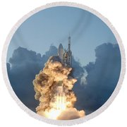 The Dawn Spacecraft Round Beach Towel