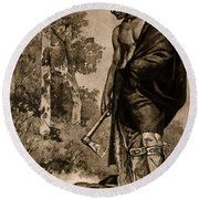 The Death Of Pontiac, 1769 Round Beach Towel by Photo Researchers