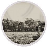 The Delaware River At Bristol Round Beach Towel