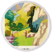The Derbyshire Dales Round Beach Towel by Frank Sherwin