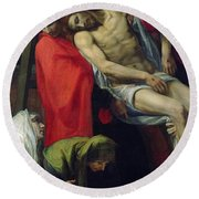The Descent From The Cross Round Beach Towel