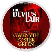 The Devil's Lair Book Cover Round Beach Towel