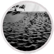 The Dunes At Dusk Round Beach Towel