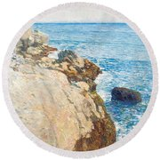 The East Headland Round Beach Towel by Childe Hassam