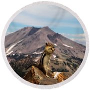 The Edge Of Glory Round Beach Towel