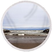 The Edge Of Mother Nature Round Beach Towel