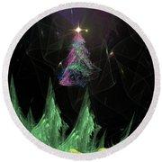 The Egregious Christmas Tree 2 Round Beach Towel