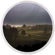 The Eighteenth Hole Round Beach Towel