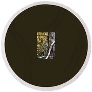 The Elf And The Man In Black Round Beach Towel