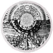 The Emerald Tablet, 1618 Round Beach Towel