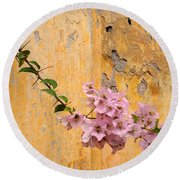 The Escaping Bougainvillea Round Beach Towel