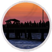 The Evenings Cast Round Beach Towel