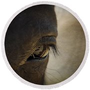 The Eyes Are The Window To The Soul Round Beach Towel