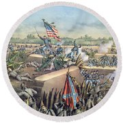 The Fall Of Petersburg To The Union Army 2nd April 1965 Round Beach Towel