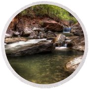 The Falls Virgin River Round Beach Towel