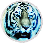 The Fierce Tiger Round Beach Towel