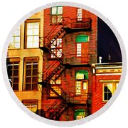 The Fire Escape Round Beach Towel