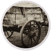 The First Station Wagons Round Beach Towel