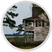 The Fishermans House Round Beach Towel