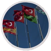 The Flags Of The Participating Nations Round Beach Towel