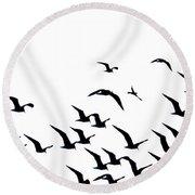 The Flock Round Beach Towel