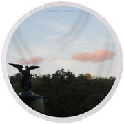 The Flying Angel Round Beach Towel