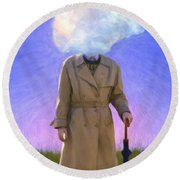 The Fool On The Hill Round Beach Towel