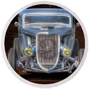The Ford Grill Round Beach Towel