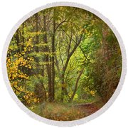 The Forest Round Beach Towel