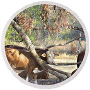 The Fork In The Tree Round Beach Towel