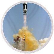 The Gemini-titan 4 Spaceflight Launches Round Beach Towel