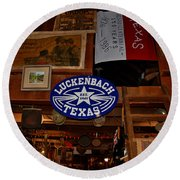 The General Store In Luckenbach Tx Round Beach Towel
